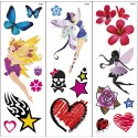 Tatuaggi trasferibili delle fate