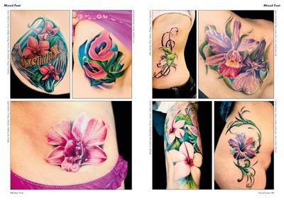 Piede e fiori for Tattoo fiori sul polso