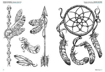 Piume e uccelli tattoo flash disegni tattoo for Acchiappasogni disegno