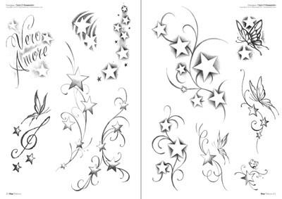 Sterne tattoo, Tattoo flash vorlagen, Tatowierungen