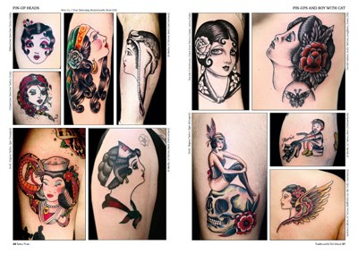 Tattoo photo 14 old school and traditional tattoo for Old school pin up tattoos