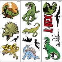 Dinosaurier-Klebetattoos 1
