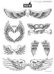 fl gel und engel tattoo flash vorlagen tattoo. Black Bedroom Furniture Sets. Home Design Ideas