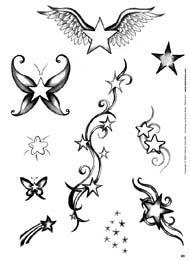 tattoo sternchen. Black Bedroom Furniture Sets. Home Design Ideas