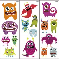 Tatuajes Transferibles Happy Monsters