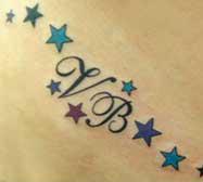 Foto di un Tatuaggio con le Iniziali