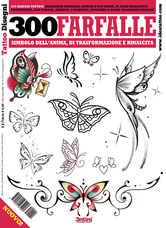 300 farfalle ita carta Disegni Tattoo   Farfalle