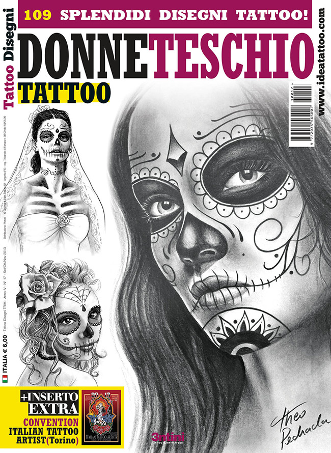 cover donne teschio 3 Disegni Tattoo   Donna teschio