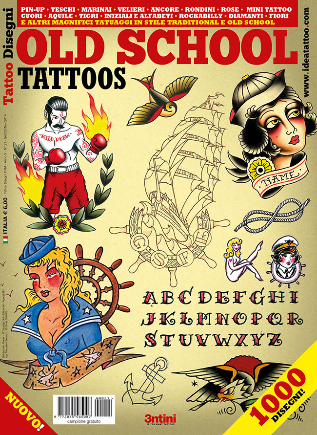 cover old school 1 Disegni Tattoo   Old School