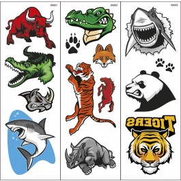 Wild animals Tattoo trasferibili