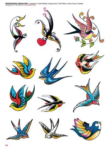 Sailor Blue Bird Tattoo