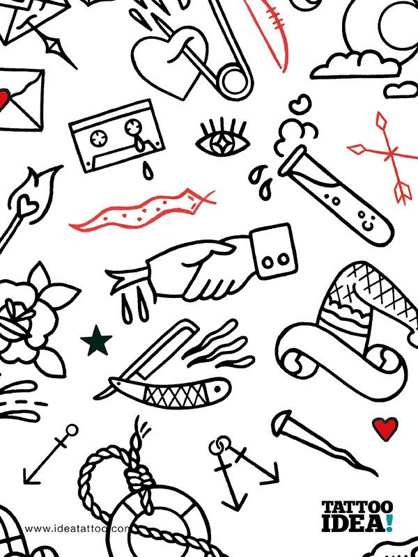 Cool tattoos tattoo flash disegni tattoo for Minimal art artisti
