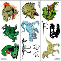 T-rex & Jurassic Tattoo Trasferibili