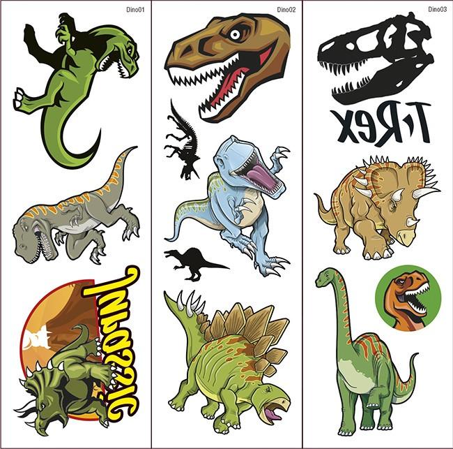 Dinosaur Transfer Tattoos 2