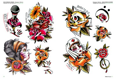 Fiori Old School.Flower Tattoos 3