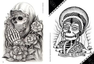 skull woman tattoos. Black Bedroom Furniture Sets. Home Design Ideas