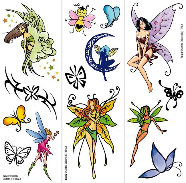 Transfer Tattoos: Fairies & Butterfly Tattoos