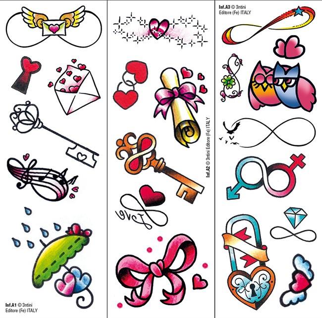 Transfer Tattoos: Infinity & Love
