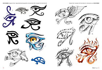 Augen for Egyptian tattoo flash