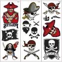 Piraten-Klebetattoos