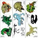 Klebe-tattoos: T-rex & Jurassic