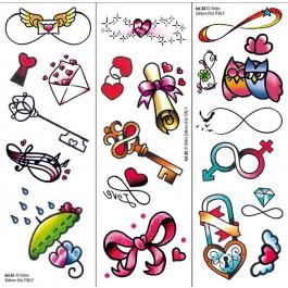 Tatuajes Transferibles: Infinito Y Amor