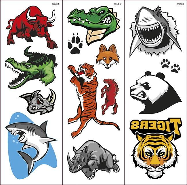 Tatuajes Transferibles Wild Animals