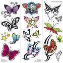 Tatuajes Transferibles: Tatuajes De Mariposas