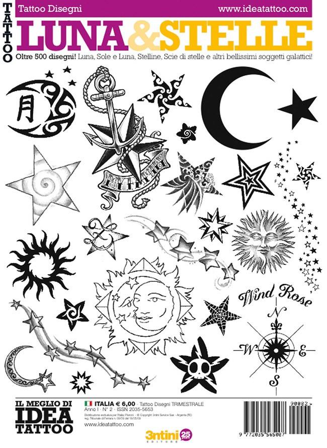 Lune Et Étoiles Tattoo