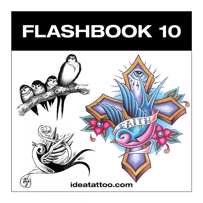 flashbook nuove cover 10 Tattoo Desings   Swallow