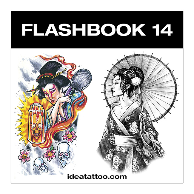flashbook nuove cover 14 Disegni tattoo   Geisha