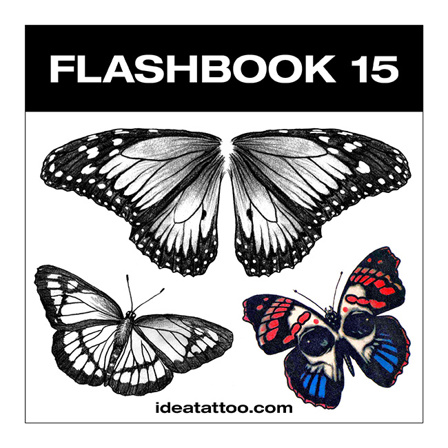 flashbook nuove cover 15 Disegni Tattoo   Farfalle