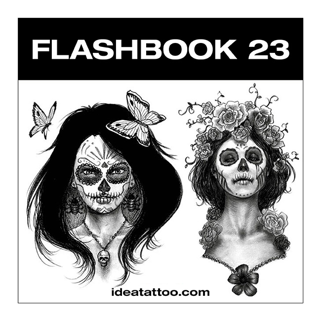 flashbook nuove cover 23 Disegni Tattoo   Donna teschio