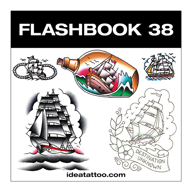 flashbook nuove cover 38 Disegni Tattoo   Old School