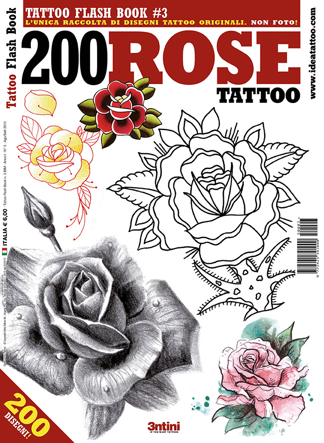 tattoo flash 3 200 rose cover 1 1 Disegni Tattoo   Rose