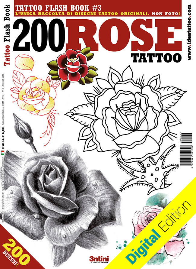 tattoo flash 3 200 rose cover dig Disegni Tattoo   Rose