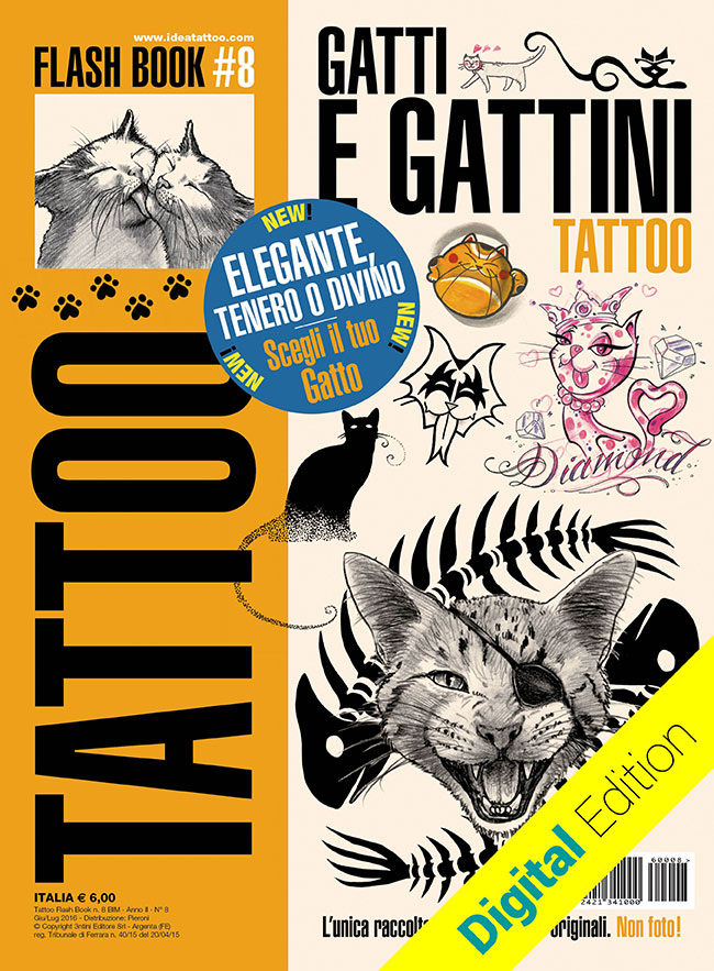 tattoo flash 8 gatti gattini cover dig Disegni Tattoo Gatti