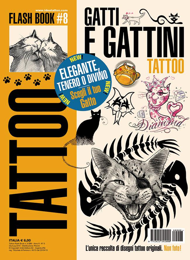 tattoo flash 8 gatti gattini cover Disegni Tattoo Gatti