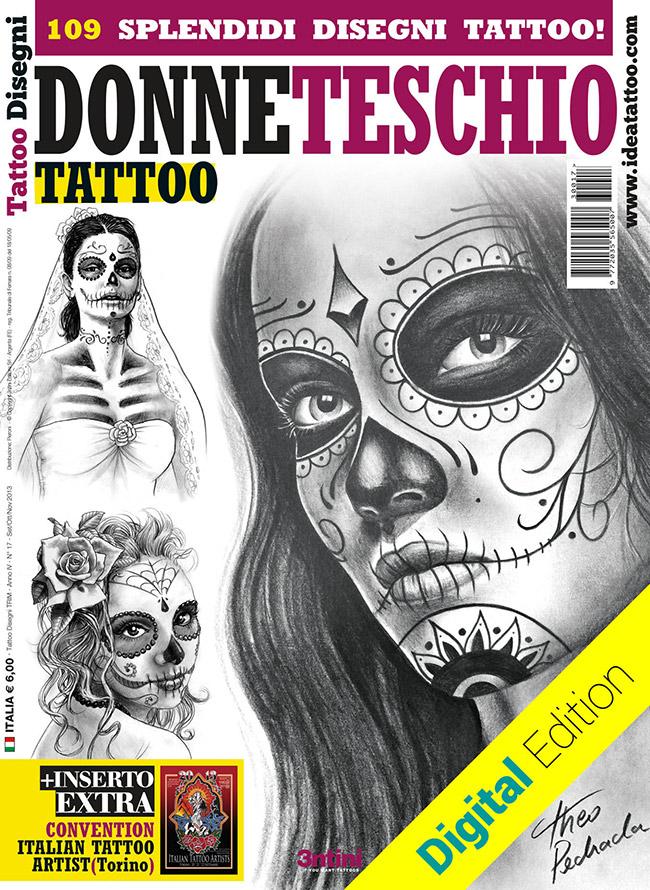 tattoo disegni catrina sugarskull donneteschio Disegni Tattoo   Donna teschio
