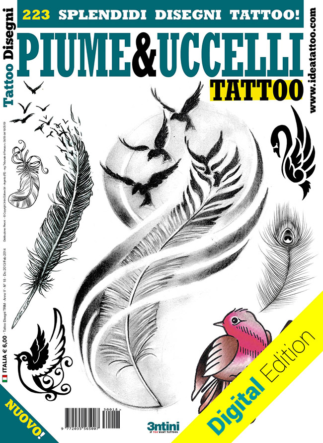 tattoo disegni piume uccelli feather bird Tattoo flash   Rondini